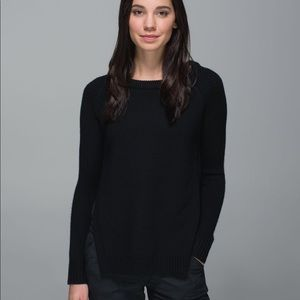 LULULEMON Yin To You black side slit wool sweater